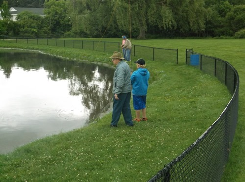 mentors fly fishing w littles 2014