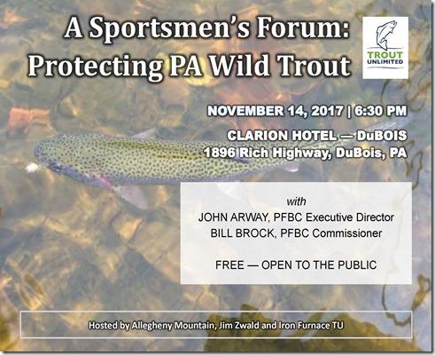 PFBC Sportsmen's Forum flyer - 2017.11.14 - FINAL